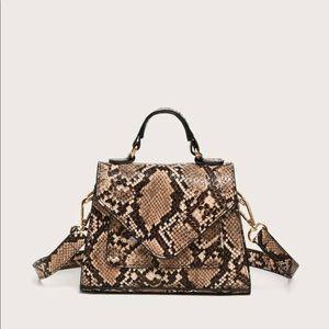 BRAND NEW Snakeskin Satchel Bag